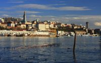 Old Belgrade from the river Sava